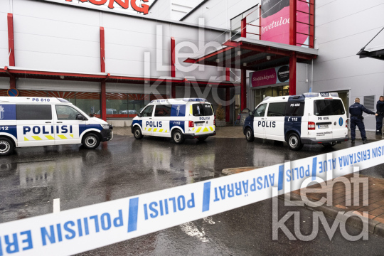 Violent incident at the Hermanni shopping centre in Kuopio., Finland